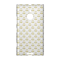 Gold Scales Of Justice On White Repeat Pattern All Over Print Nokia Lumia 1520 by PodArtist