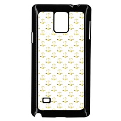 Gold Scales Of Justice On White Repeat Pattern All Over Print Samsung Galaxy Note 4 Case (black) by PodArtist