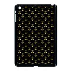 Gold Scales Of Justice On Black Repeat Pattern All Over Print  Apple Ipad Mini Case (black) by PodArtist