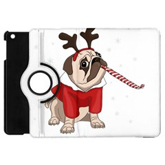 Pug Xmas Apple Ipad Mini Flip 360 Case by Valentinaart