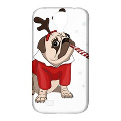 Pug Xmas Samsung Galaxy S4 Classic Hardshell Case (pc+silicone) by Valentinaart