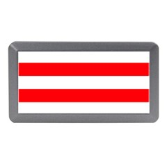 Christmas Red And White Cabana Stripes Memory Card Reader (mini) by PodArtist