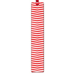 Christmas Red And White Chevron Stripes Large Book Marks by PodArtist