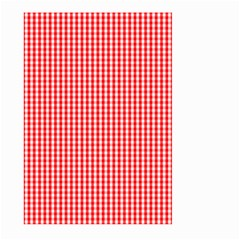 Small Snow White And Christmas Red Gingham Check Plaid Large Garden Flag (two Sides) by PodArtist