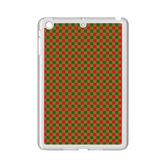 Large Red And Green Christmas Gingham Check Tartan Plaid Ipad Mini 2 Enamel Coated Cases by PodArtist