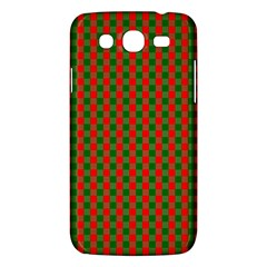 Large Red And Green Christmas Gingham Check Tartan Plaid Samsung Galaxy Mega 5 8 I9152 Hardshell Case  by PodArtist