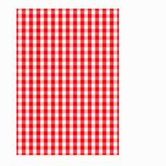 Large Christmas Red And White Gingham Check Plaid Large Garden Flag (two Sides) by PodArtist