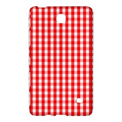Large Christmas Red And White Gingham Check Plaid Samsung Galaxy Tab 4 (7 ) Hardshell Case  by PodArtist