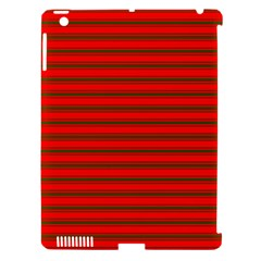 Christmas Red And Green Bedding Stripes Apple Ipad 3/4 Hardshell Case (compatible With Smart Cover) by PodArtist