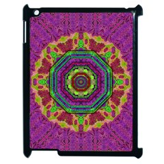 Mandala In Heavy Metal Lace And Forks Apple Ipad 2 Case (black) by pepitasart