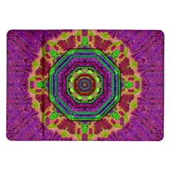 Mandala In Heavy Metal Lace And Forks Samsung Galaxy Tab 10 1  P7500 Flip Case by pepitasart