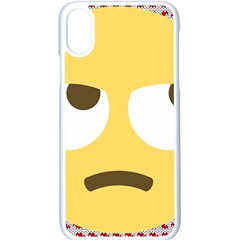 Face Apple Iphone X Seamless Case (white)