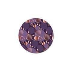 Random Polka Dots, Fun, Colorful, Pattern,xmas,happy,joy,modern,trendy,beautiful,pink,purple,metallic,glam, Golf Ball Marker (4 Pack) by 8fugoso