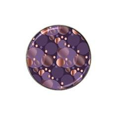 Random Polka Dots, Fun, Colorful, Pattern,xmas,happy,joy,modern,trendy,beautiful,pink,purple,metallic,glam, Hat Clip Ball Marker (4 Pack) by 8fugoso