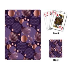 Random Polka Dots, Fun, Colorful, Pattern,xmas,happy,joy,modern,trendy,beautiful,pink,purple,metallic,glam, Playing Card by 8fugoso