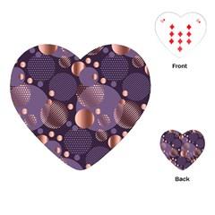 Random Polka Dots, Fun, Colorful, Pattern,xmas,happy,joy,modern,trendy,beautiful,pink,purple,metallic,glam, Playing Cards (heart)  by 8fugoso