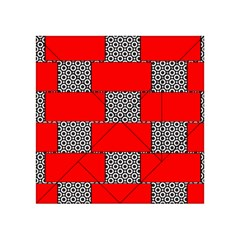 Black And White Red Patterns Acrylic Tangram Puzzle (4  X 4 ) by Celenk