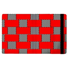 Black And White Red Patterns Apple Ipad 2 Flip Case