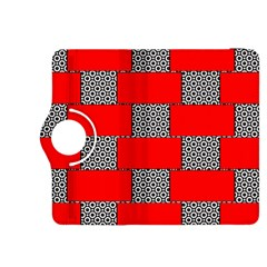 Black And White Red Patterns Kindle Fire Hdx 8 9  Flip 360 Case