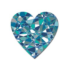 Abstract Background Blue Teal Heart Magnet by Celenk