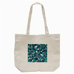 Abstract Background Blue Teal Tote Bag (cream) by Celenk