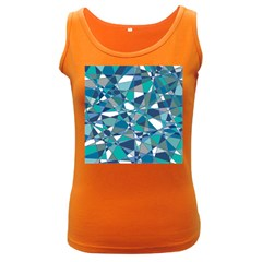 Abstract Background Blue Teal Women s Dark Tank Top by Celenk