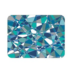 Abstract Background Blue Teal Double Sided Flano Blanket (mini)  by Celenk