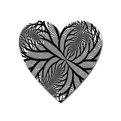 Fractal Symmetry Pattern Network Heart Magnet by Celenk