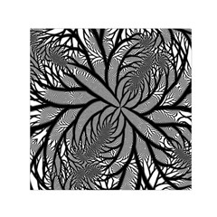Fractal Symmetry Pattern Network Small Satin Scarf (square) by Celenk