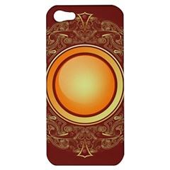 Badge Gilding Sun Red Oriental Apple Iphone 5 Hardshell Case by Celenk