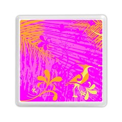 Spring Tropical Floral Palm Bird Memory Card Reader (square)