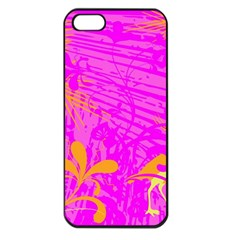 Spring Tropical Floral Palm Bird Apple Iphone 5 Seamless Case (black) by Celenk