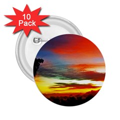 Sunset Mountain Indonesia Adventure 2 25  Buttons (10 Pack)  by Celenk