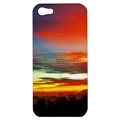 Sunset Mountain Indonesia Adventure Apple Iphone 5 Hardshell Case by Celenk