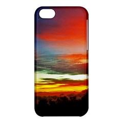 Sunset Mountain Indonesia Adventure Apple Iphone 5c Hardshell Case by Celenk
