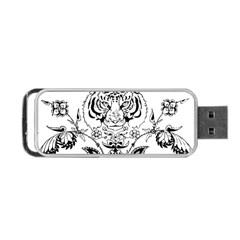 Tiger Animal Decoration Flower Portable Usb Flash (one Side) by Celenk