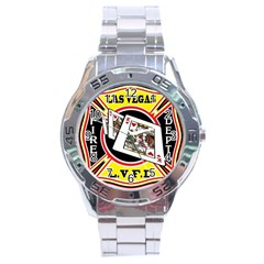 Las Vegas Fire Department Stainless Steel Analogue Watch by teambridelasvegas