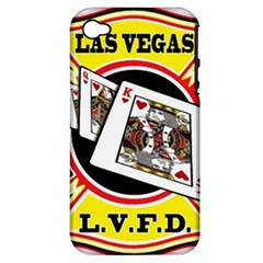 Las Vegas Fire Department Apple Iphone 4/4s Hardshell Case (pc+silicone) by teambridelasvegas