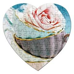 Tea Cups Jigsaw Puzzle (heart)
