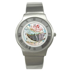 Tea Cups Stainless Steel Watch by 8fugoso