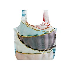 Tea Cups Full Print Recycle Bags (s)  by 8fugoso