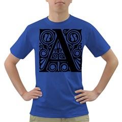 Alphabet Calligraphy Font A Letter Dark T Shirt by Celenk