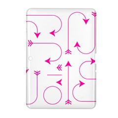 Arrows Girly Pink Cute Decorative Samsung Galaxy Tab 2 (10 1 ) P5100 Hardshell Case