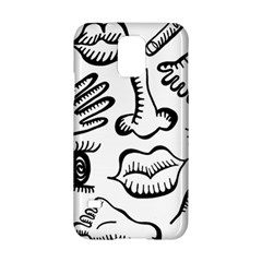 Anatomy Icons Shapes Ear Lips Samsung Galaxy S5 Hardshell Case  by Celenk