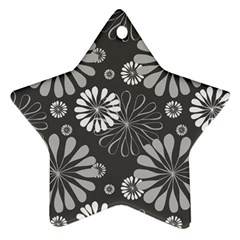Floral Pattern Floral Background Star Ornament (two Sides) by Celenk