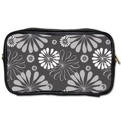 Floral Pattern Floral Background Toiletries Bags by Celenk