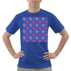 Seamless Tile Repeat Pattern Dark T Shirt by Celenk
