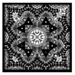 Mandala Calming Coloring Page Large Satin Scarf (square) by Celenk