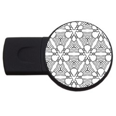 Pattern Design Pretty Cool Art Usb Flash Drive Round (2 Gb) by Celenk