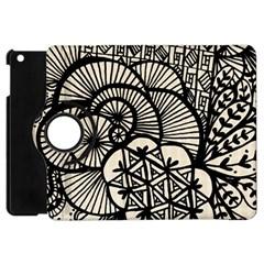 Background Abstract Beige Black Apple Ipad Mini Flip 360 Case by Celenk